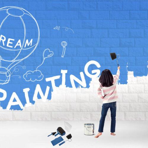 6Pcs Paint Roller Runner Pro Peinture Rouleaux Avec Manche Extensible Kit Outils 2