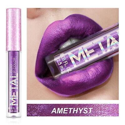 Long Lasting Lip Liquid Matte Metallic Glitter Lipstick Lip Gloss Makeup 2019 6