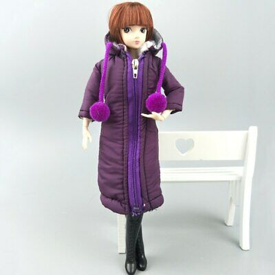 Long Coat Cotton Dress for 11.5in. Doll Clothes Parka For 1/6 BJD Doll Jacket 4
