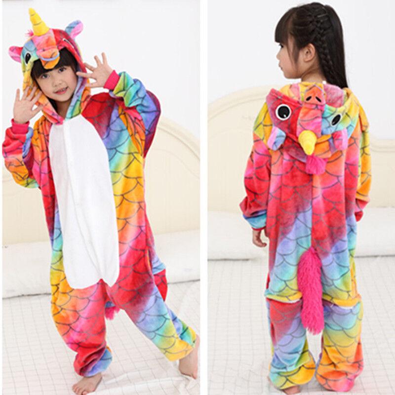 d4e81caaf KINDER MÄDCHEN TIER Kigurumi Pyjamas Cosplay Nachtwäsche Kostüm ...