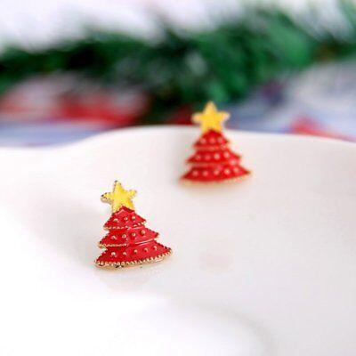 Fashion Women Christmas Earrings Enamel Crystal Drop Dangle Ear Stud Ear Hook 12
