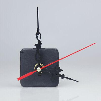 Black Quartz Clock Movement 3 Pointers Mechanism Repair DIY Tool Kit + Red Hand 2