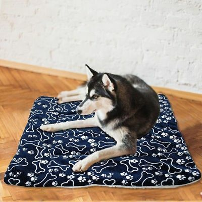 UK Pet Washable Home Blanket Cat Dog Bed Cushion Mattress Kennel Soft Crate Mat 8