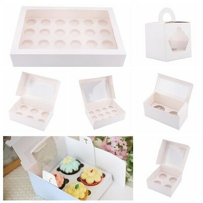Cupcake Box Cases 1 hole 2 hole 4 hole 6 hole 12 hole 24 hole Window Face Gift 2