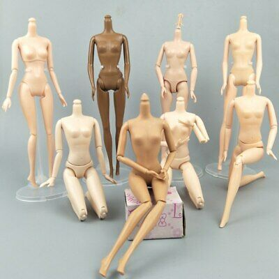 """1/6 Joint DIY Movable Nude Naked Doll Body For 1:6 BJD Dollhouse DIY Body 11.5"""" 2"""