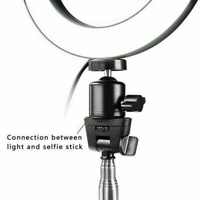 LED Ring Light Dimmable 5500K Lamp Photography Camera Photo Studio Phone Video 10
