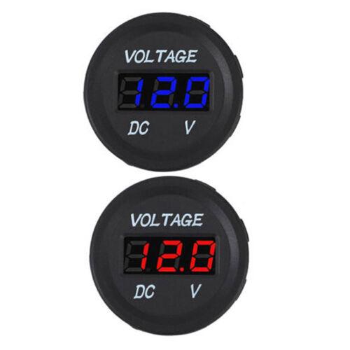 5-48V car marine motorcycle led digital voltmeter voltage meter battery gauge~OY 2