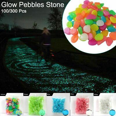 New 100x Glow In The Dark Stones Pebbles Rock Fish Tank Aquarium Garden Walkway 12