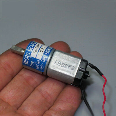 THINK DC12V-24V 350RPM mini 20mm Full Metal Gearbox Gear motor Reducer DIY Robot 10