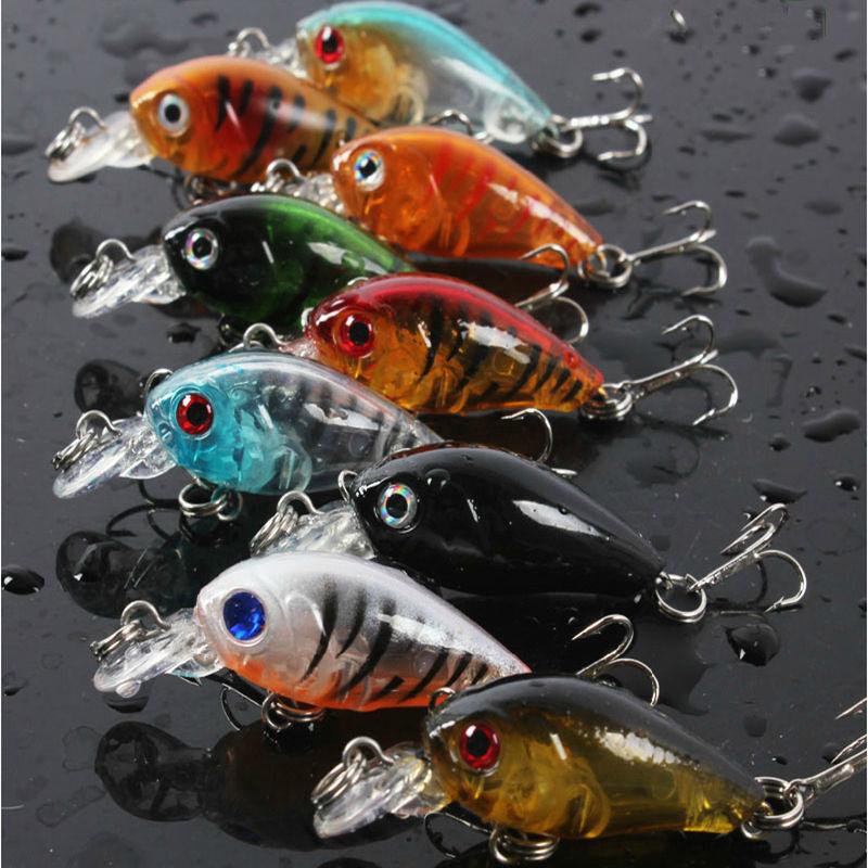 5pcs Fishing Lures Crankbaits Treble Hooks Randomly Baits Tackle Bass Minnow 5