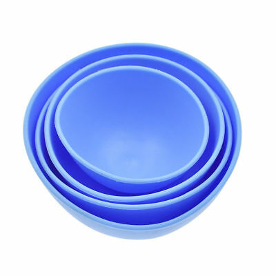 Dental Lab Mixing Bowl Blue Nonstick Flexible Silicone Rubber Impression Cup 4