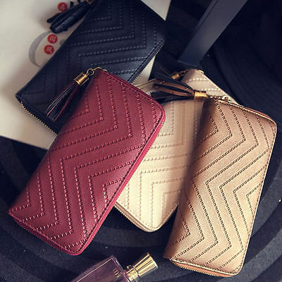 Girl Women Lady PU Leather Clutch Wallet Long Card Holder Purse Handbag Bag 7