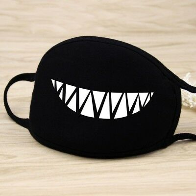Adults Black Cute Anime Emoticon Mouth Muffle Anti Dust Korea Cotton face mask 10