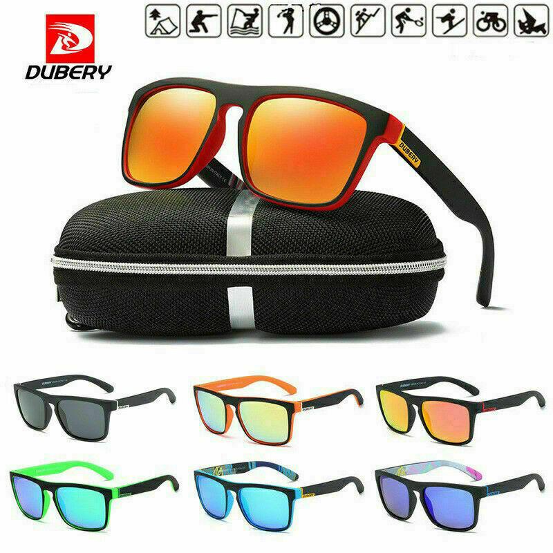 DUBERY Polarized Mens Sunglasses Square Cycling Driving Sun Glasses UV400 2019 2