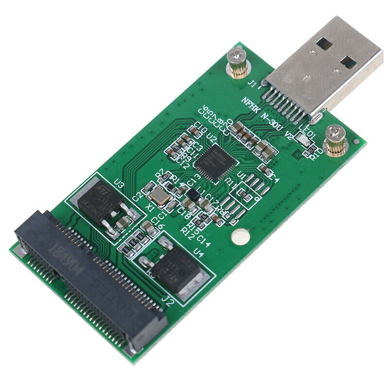 1Pc Mini USB 3.0 to PCIE mSATA External SSD PCBA Conveter Adapter  MER 2
