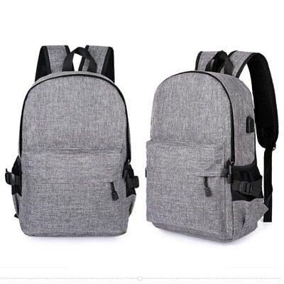 Anti-Theft Backpack USB Port Water Repellent Charging Travel Laptop School Bag H 3