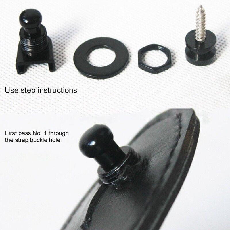 2PCS Schaller Straplocks Electric Acoustic Guitar Bass Strap Locks Button Copper 4
