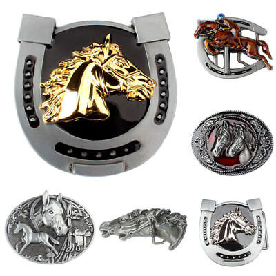 Western Men's Alloy Leather Belt Buckle Vintage Cowboy Pattern 38/40MM 7
