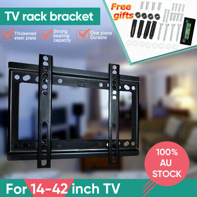 Tilt TV Wall Bracket Mount Flat LED LCD 32 37 42 46 50 52 55 60 65 inch LG Sony 4