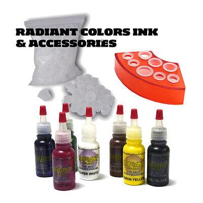 Complete Tattoo Kit Professional Inkstar 2 Machine ROTARY Set GUN Radiant 7 8