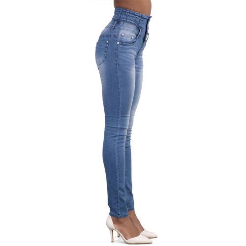 damen jeans hose r hrenjeans r hre hochschnitt hoher bund skinny stretch hosen eur 14 49. Black Bedroom Furniture Sets. Home Design Ideas