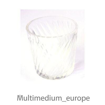 4 Stück Biedermeier um 1850 Becher Gläser geschliffen Klar Glas farblos poliert 3