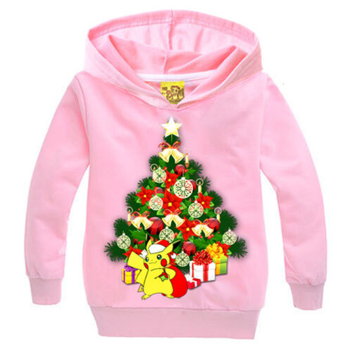 Pikachu Kinder Jungen Mädchen Sweatshirt Kapuzenjacke Jacke Pullover Pulli 3-10J