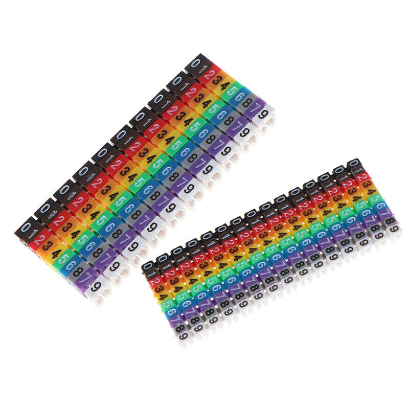 Cable Markers Colourful C-Type Marker Number Tag Label For Wire 1.5/2.5/4/ 6mES 4