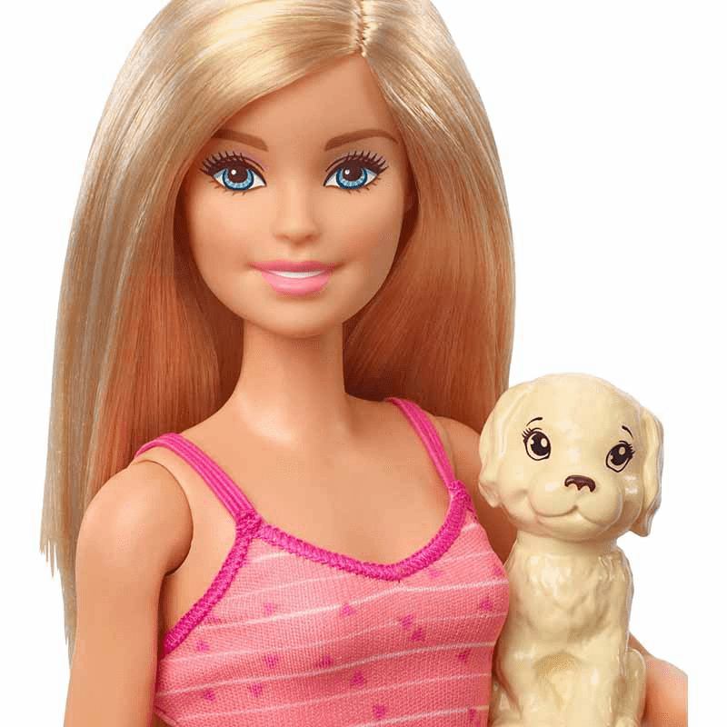 Barbie Doll GDJ37 Blonde and Playset with 3 Puppies and Accessories 3