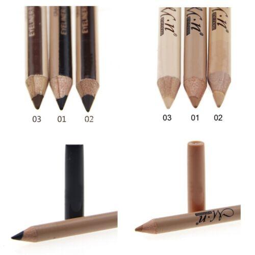 2 in 1 Doubleend Make Up Waterproof Eyebrow Pen + Foundation Concealer Pencil*` 4