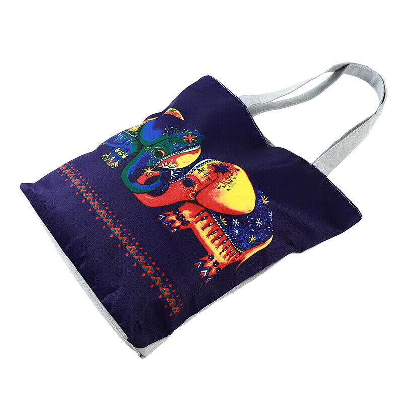 Handbag Elephant Printed Tote Casual Beach Bags Shoulder Shopping Casual JJ 6