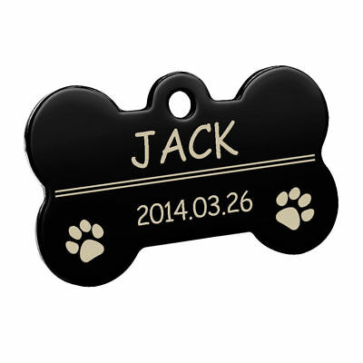 Bone Shape Custom Personalized Engraved Dog Tag Pet Cat Name ID Tag Phone Tag 11