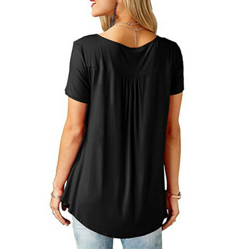 Women Ladies Summer Loose Tops Short Sleeve T Shirt Blouse Casual 8-22 Plus Size 5