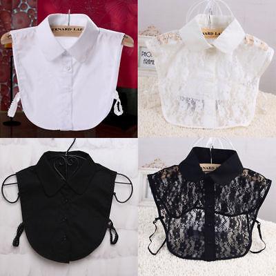 Fashion Women Choker Necklace Detachable Lapel Shirt Fake False Collar Necklace