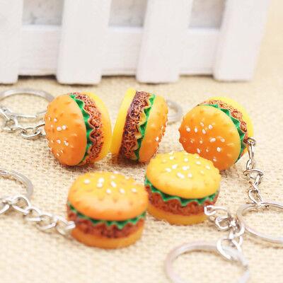 30xHamburger Keyring 3D Burger Keychain Novelty Food Simulation Joblot Wholesale