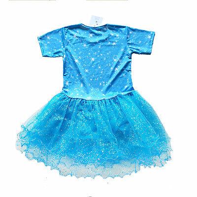 Beautiful Sparkly Shopkins Tutu Birthday Girl Print Blue Party Dress sizes 6-12