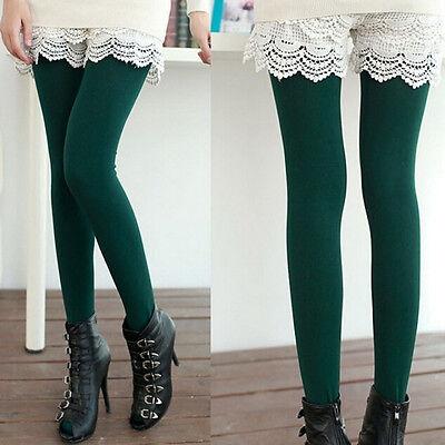 Pantalon Leggings extensible thermique chaud doublé molleton épais pour fem  BB 4