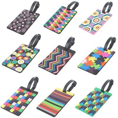 Travel Luggage Tags Labels Strap Address ID Name Suitcase Bag Baggage Secure New 2