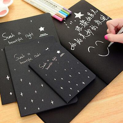 Cahier de carnet noir papier bloc-notes croquis Carnet de graffiti pour des~PL 3