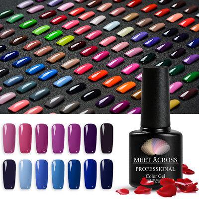 MEET ACROSS Nail Art Gel Color Polish Soak-off UV/LED Manicure DIY Varnish 7ml 8