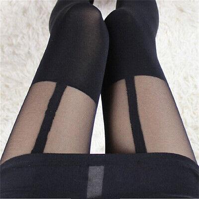 Fashion Women Girl Temptation Sheer Mock Suspender Tights Pantyhose StockinBILS