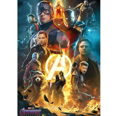 Avengers 4 & 3 Infinity War Movie Thanos Iron Man Kraft Paper Posters Picture 6