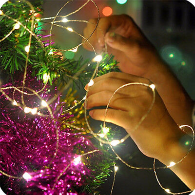 20/30/100 LED Battery Micro Rice Wire Copper Fairy String Lights Party white/rgb 11