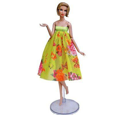 """Fashion Doll Clothes For 11.5"""" Doll Outfits 1/6 Party Gown Top Floral Midi Skirt 2"""
