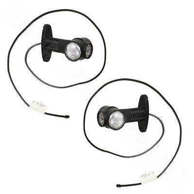 L 2x Aspöck Superpoint 3 LED Umrissleuchten Begrenzungsleuchten 12V R