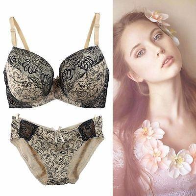 4729d06380 ... Womens Floral Ladies Underwear Luxury Push up Bra Set Knickers Panties  BCD DD EF