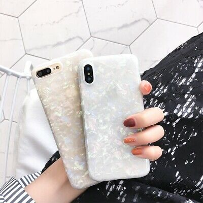 For iPhone 8 7 Plus XS MAX XR Marble Shockproof Silicone Soft Phone Case Cover 7