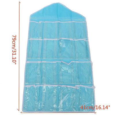16 Pockets Door Wardrobe Hanging Organizer Bag Shoe Rack Hanger Closet Storage L 9