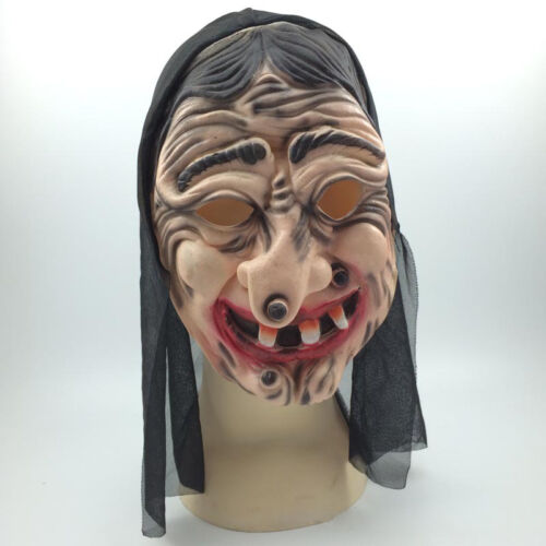 Full Head Green Witch Mask Wicked Halloween Masquerade Fancy Dress Cosplay L9A1