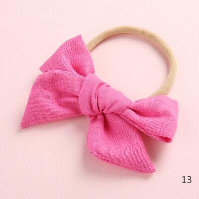 Baby Kids Toddler Soft Cotton Bow Tie Ring Nylon Headband Girls Hair Accessories 6